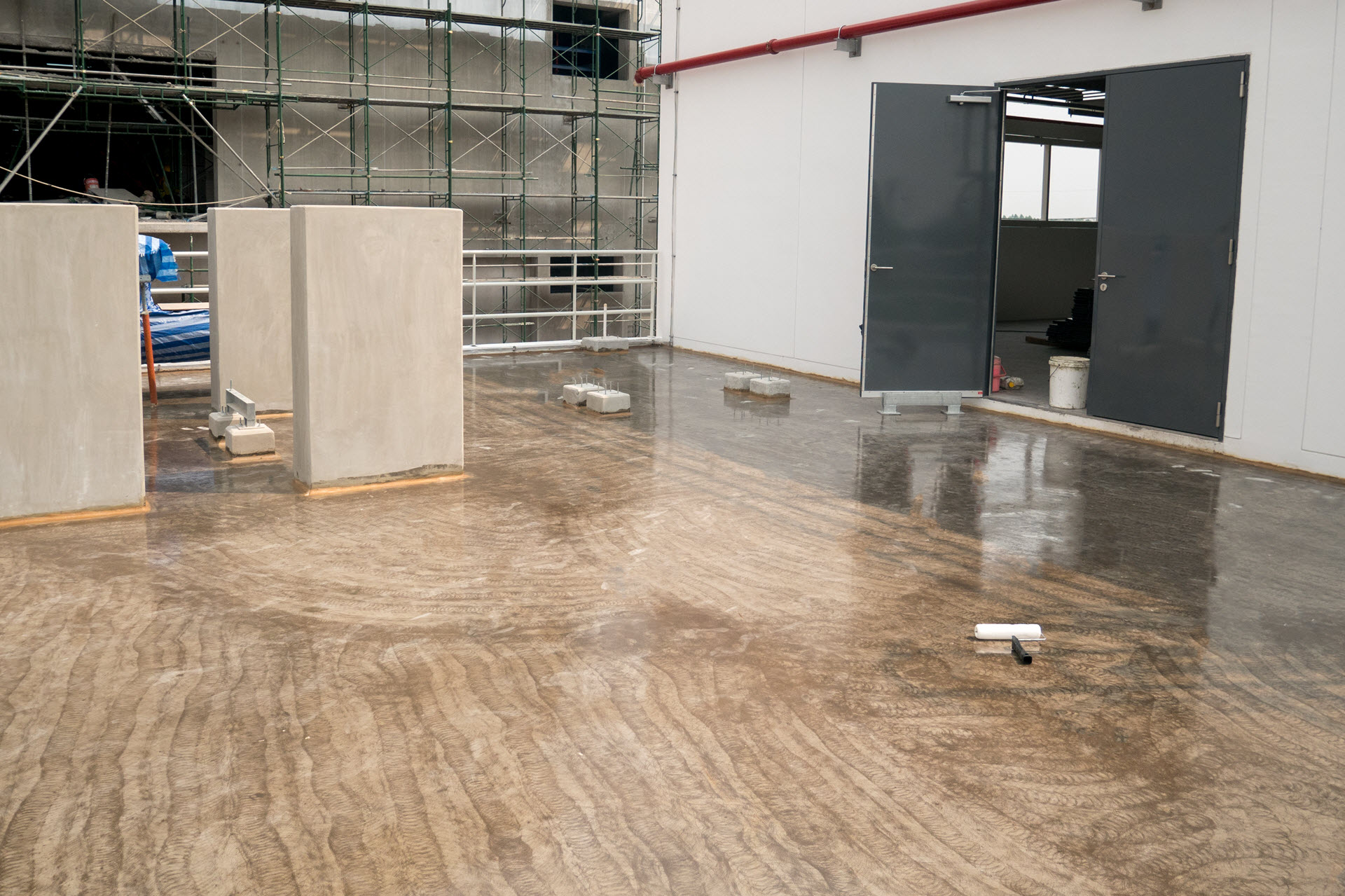 a finished concrete polish project
