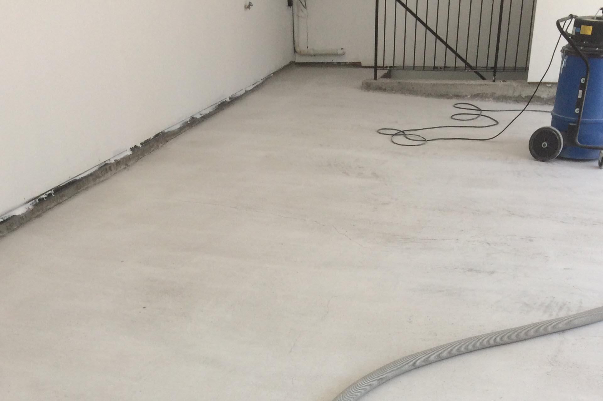 concrete polishing garage polished floor