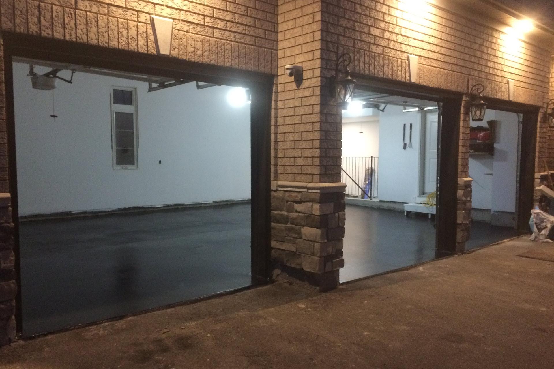 garage flooring concrete polishing