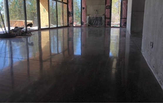 polished concrete floors