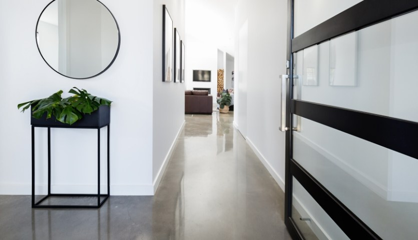interior polished concrete floor